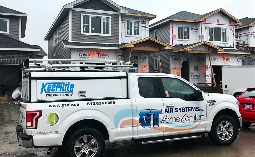 GT Air Home Comfort van on the job site